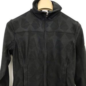 Nike Jacket Zipper Front Athletic Triangle Pattern